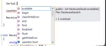 Visual Studio Intellisense Dropdown