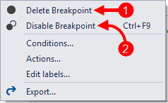 Context Menu Delete/Disable