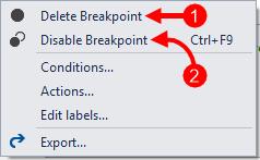 Context Menu Delete/Disable