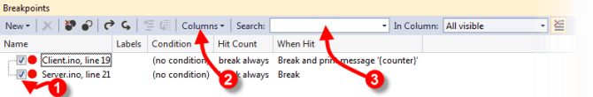 Breakpoint Window