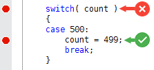 Breakpoint in single line 'if' Exact Location