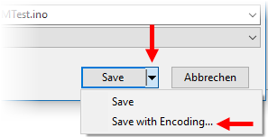 File Save With Encoding