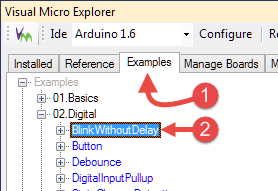 Opening Micro Explorer Tutorials Example