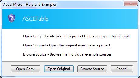 Open Example Dialog