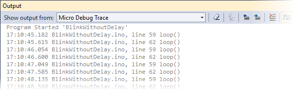 Tracepoint Output Window