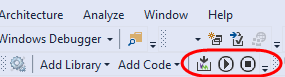 Serial Monitor Toolbar Stop Button