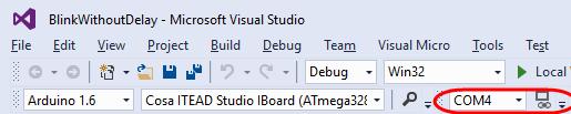Visual Micro Serial Communications Toolbar