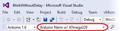 Visual Micro Toolbar