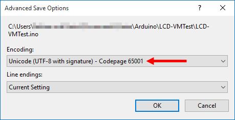 Encoding Selection Window
