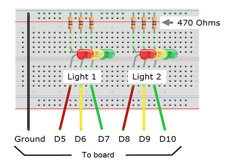 Tutorial breadboard diagram