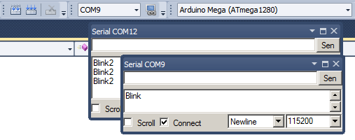 Visual Studio has serial tool windows for arduino or any other project