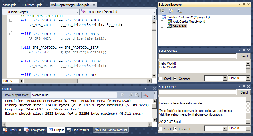 Arduino Visual Studio Intellisense Shows All The Conditional Compiler Statements