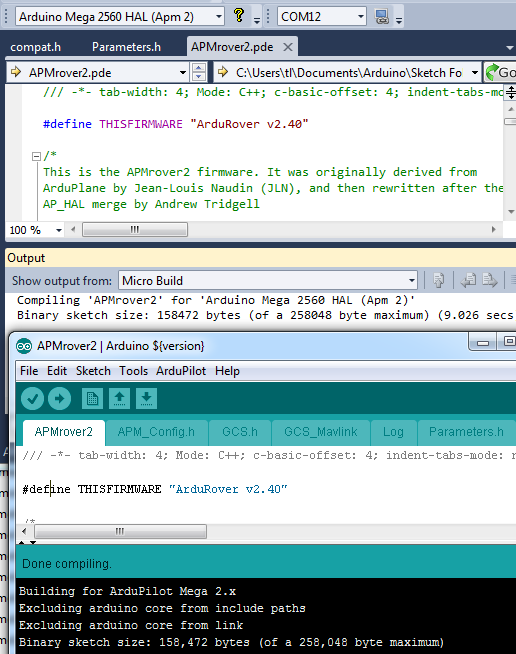 Visual Studio Ide for Arduino - Compiling a Arduino app with
