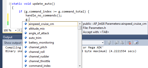 How to explorer an arduino project using Visual Studio intellisense