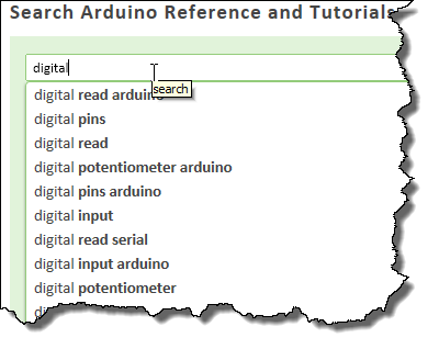 Announcing - Arduino Tutorial Reference powered by Google