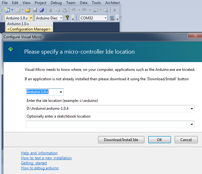Arduino for Visual Studio Basic Setup