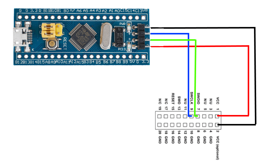 STM32 Programmer and Debugger Connections