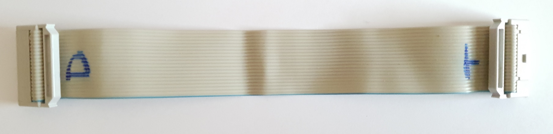 Example 20 Pin JTAG Ribbon cable with (D)ebugger and (T)arget marked