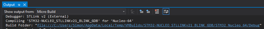 Locating the Build Folder in Visual Micro