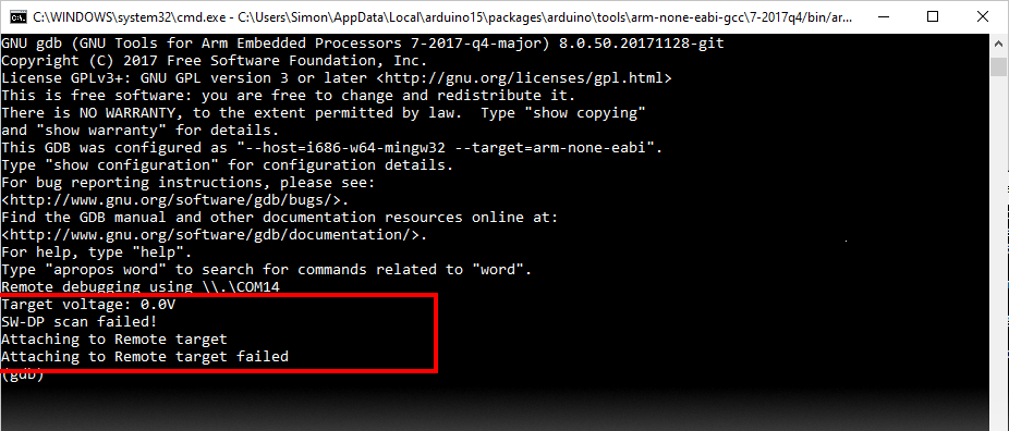 GDB Executing via the Command Line
