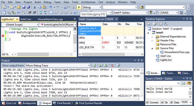 Intel Galilao in Visual Studio