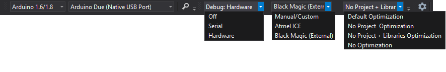 SAM Debug Toolbar Settings
