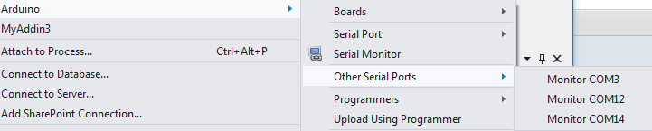 Monitor other serial ports without affecting the arduino upload settings