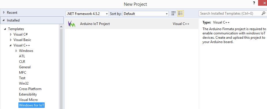 A ready to use Windows 10 IoT for Arduino is included with the Visual Studio extension