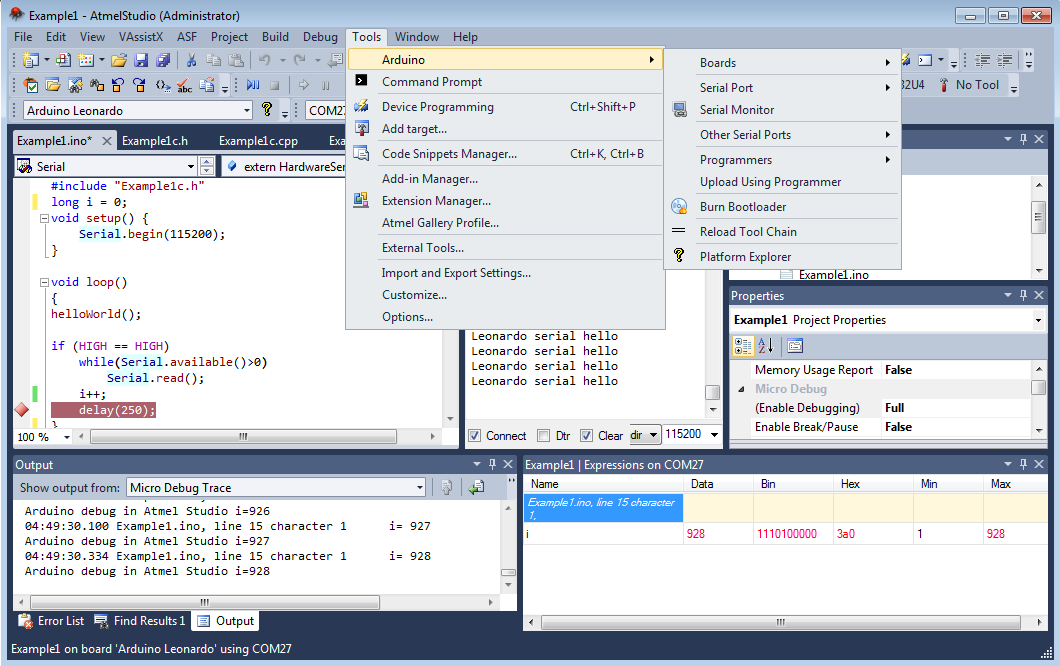 Arduino and cygwin ide for atmel studio foxteam uav clan